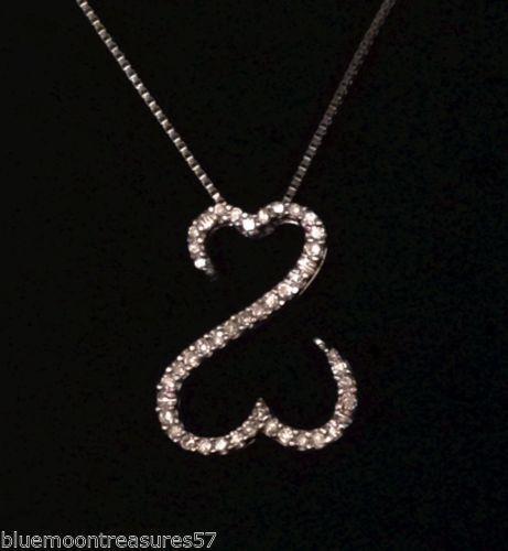 Jane Seymour Open Heart Necklace Ebay