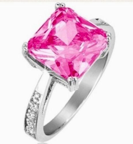 princess cut pink sapphire ring ebay