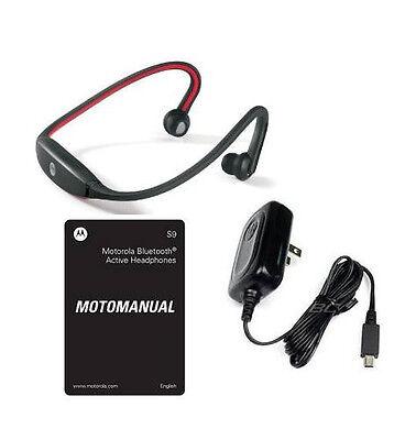 Oem Stereo Headset Headphones (oEM MOTOROLA S9 BLUETOOTH MOTOROKR STEREO HEADSET WIRELESS HEADPHONES RED/BLACK )