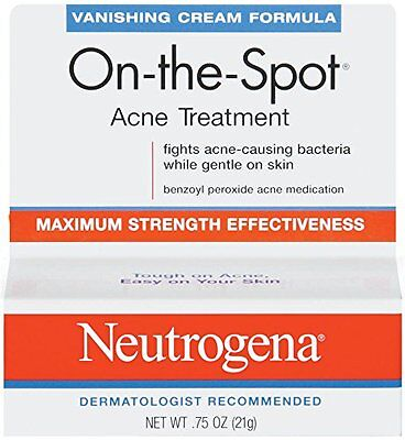 2 Pack Neutrogena Vanishing Cream On-The-Spot Acne Treatment Max Strength .75oz  ()