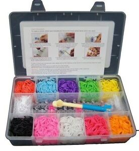3000-Colourful-Loom-Rubber-Bands-Bracelet-Making-Starter-DIY-Kit-120-Clips