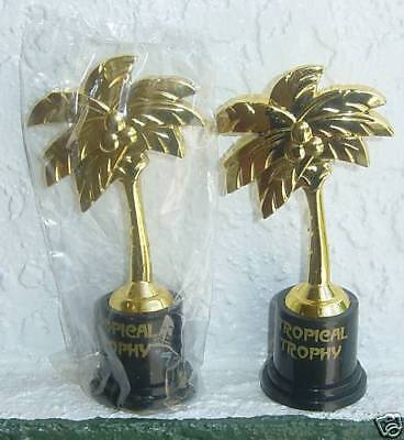 Tropical Trophies (3 TROPICAL PALM TREE LUAU TROPHIES Game Prizes Award for Winners at LUAUs )