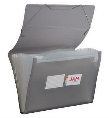 Jam Paper 13 Pocket Plastic Expanding File Accordion Folders Legal Size 10 X