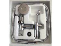Bidet Spray Kit (Muslim Shower) Including Handle, hose, Shutoff valve and holder