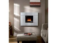 "VALOR 752 CONTEMPORARY ""HOLE-IN-WALL"" LIVE FLAME ""COALS"" GAS FIRE & S/STEEL SURROUND"