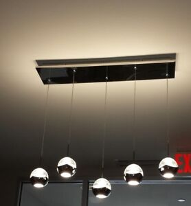 Ceiling Light Pendant with Multilple Glass and Chrome Balls