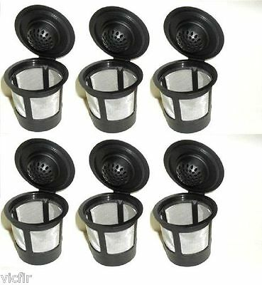 Reusable Solo Cups (6 Reusable Refillable K-Cup Coffee Filter Pod,Fit Keurig)