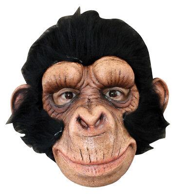 Happy Chimp Adult Halloween Animal Mask - Happy Halloween Animations