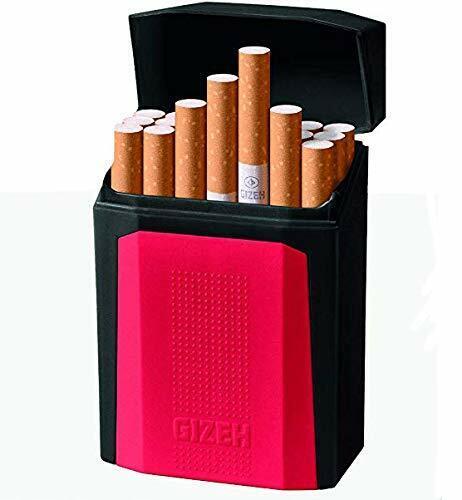 Gizeh Flip Top King Size Cigarette Case - Hard Plastic - Various Colors - 2605
