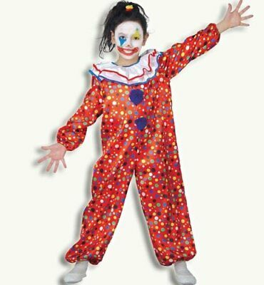 Fries 2131 Clown Pünktchen Overall Kinder Kostüm Gr 116 ()