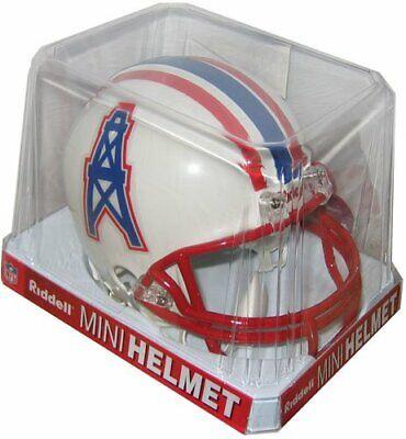 Houston Oilers Helmet Riddell Replica Mini VSR4 Style 1996 Tennessee Throwback - Oilers Mini Helmet