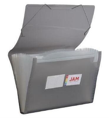 Jam Paper 13 Pocket Plastic Expanding File Accordion Folders Legal Size10 X 15