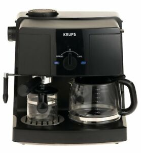 KRUPS XP1500 Coffee Maker and Espresso Machine Combination, Blac