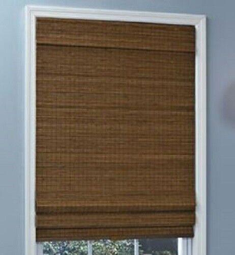 NEW Natural Woven Bamboo Cordless Roman Shade/Blind Window Treatment NIB