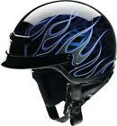 Z1R Motorcycle Helmets Blue Half Helmet