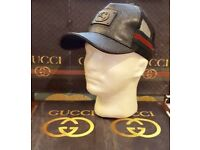 *** GUCCI LEATHER MENS MONOGRAM CAPS FOR SALE !!!! POPULAR !!!! ***