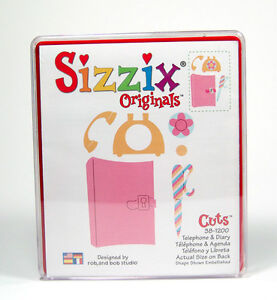 Sizzix Original Dies (Tags, Bookplates & Diary) - $8 each