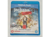 DVD FILM MOVIE 3D BLURAY JACKASS 3 TRIPLE PLAY BLU RAY DTS EXPLOSIVE EXTENDED EDITION