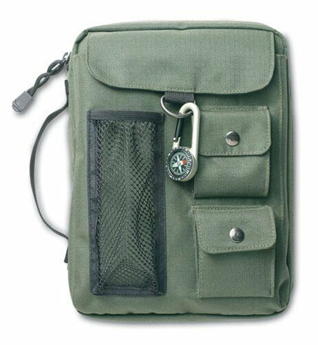 Compass Olive Green Extra Large Book & Bible Cover by Zondervan Brand New