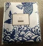 Pottery Barn Queen Duvet Blue