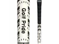 10 x GOLF PRIDE NEW DECADE® MULTI COMPOUND STANDARD GOLF GRIPS BLACK / WHITE............NEW