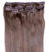 Clip in Human Hair Extensions Light Brown