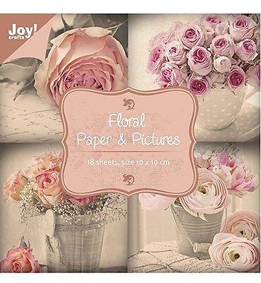PaperBloc Papierblock 18Bl. 10x10cm Paper&Pictures Floral JoyCrafts 6011/0063