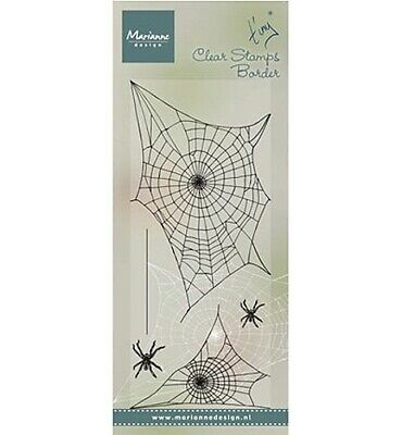 Motiv-Stempel Clearstamps 4St. Spider web Spinnen-Netz Halloween Marianne TC0841