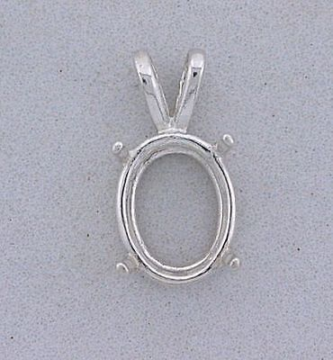 18x13 18mm x 13mm Oval Wire Gemstone Pendant Sterling Silver Prenotched (Oval Wire Pendant Mounting)