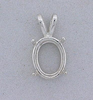 Sterling Silver 7x5 Oval Wire Pendant (Oval Wire Pendant Mounting)