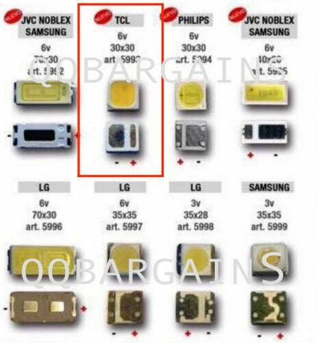 TV Backlight LED Diode Hitachi SMD 3030 3V 1W CoolWhite LED 10PCS TLC Philips Yi