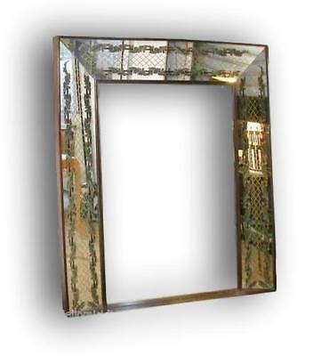 Specchio decorato luigi brusotti anni 40 fontana arte modernariato