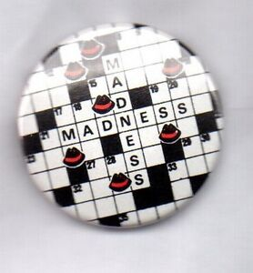 MADNESS BUTTON BADGE - UK SKA BAND - SUGGS ONE STEP BEYOND  OUR HOUSE 25mm PIN