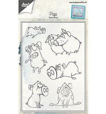 Motiv-Stempel Clearstamps Stempel-Set Pigs lustige Schweine JoyCrafts 6410/0424