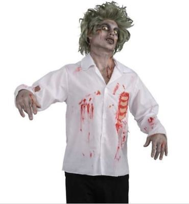 Party Novelties Halloween Costumes (Forum Novelties Mens Adult Zombie Chest Wound Shirt Halloween Party)