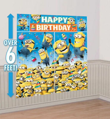 Despicable Me Minions Wall Banner Decorating Kit Scene Setters - Despicable Me Scene Setter