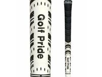 10 x GOLF PRIDE NEW DECADE® MULTI COMPOUND STANDARD GOLF GRIPS BLACK / WHITE............NEW