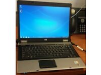 "HP core 2 duo Fast Compaq 6730b LAPTOP/15.4"" screen/ MS office/ windows. BARGAIN WOW"