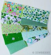 Green Patchwork Fabric