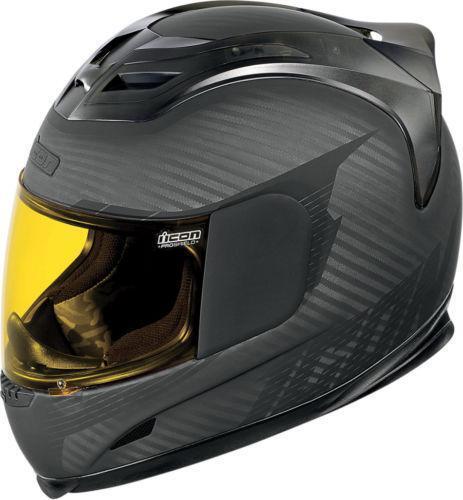 Carbon Fiber Motorcycle Helmet >> Icon Carbon Fiber Helmet | eBay