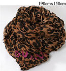 Wool Blend Animal Print Scarves and Wraps for Women