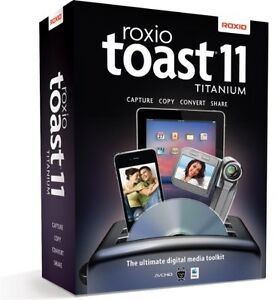 New Roxio Toast 11 TITANIUM for Mac Full Version In Factory-Sealed Retail Box