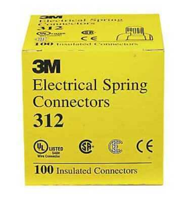 Huge 25000 Pc Lot 3m Electrical Yellow Wire Insulated Spring Connector 312-keg