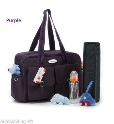 purple diaper bag ebay. Black Bedroom Furniture Sets. Home Design Ideas