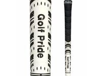New Pack of 10 x White Golf Pride Multicompound Round 0.580 Iron & Wood Grip.
