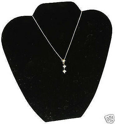 Black Velvet Necklace Pendant Displays Jewelry Bust