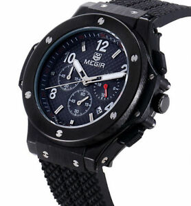 Mans Military Stealth Chronograph Watch