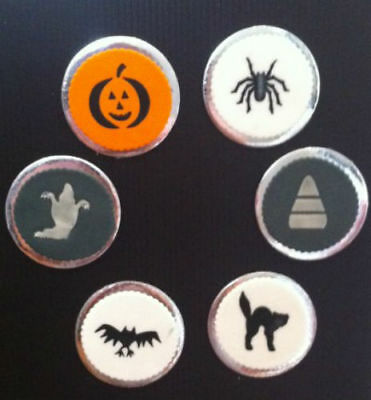 Halloween Witch, Bat, Ghost, Scary Pumpkin etc Set of 6 Biscuit Cookie Stencil - Scary Halloween Pumpkin Stencils