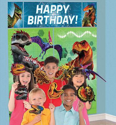 Dinosaur Scene Setter (DINOSAURS Scene Setter HAPPY BIRTHDAY party deocr dinos & 12 photo booth)