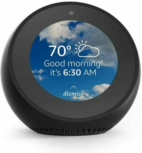 NEW! Amazon Echo Spot Black with Alexa Voice Smart Assistant LCD Touchscreen